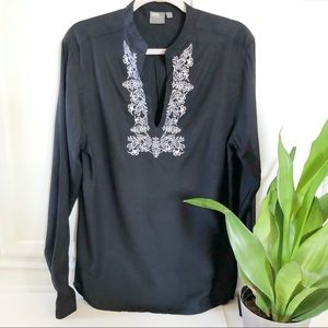 ASOS Embroidered Tunic Blouse Top